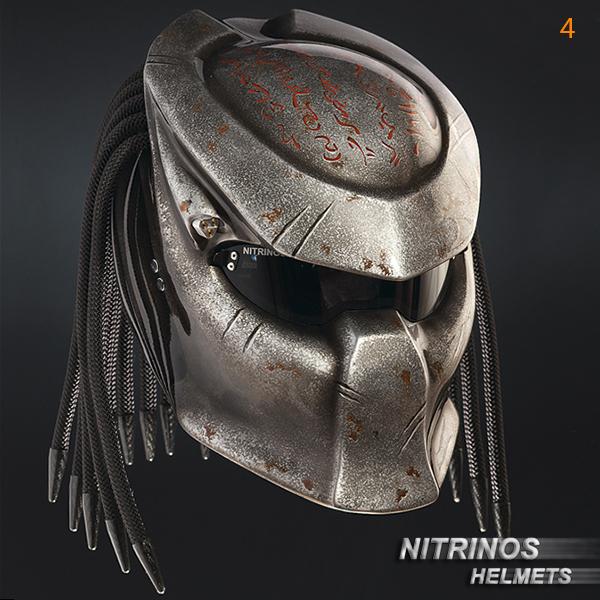 "Carbon Fiber Motorcycle Helmet >> Options airbrushing helmet ""Predator""   Nitrinos"