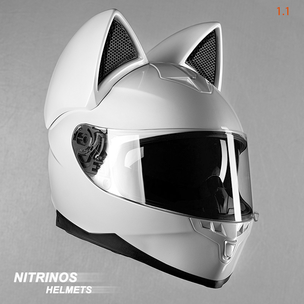 7501bd61 This is a single colour-Neko helmet covered with a layer of matte or glossy  lacquer. You can choose any color: black, white, orange or any other colour.